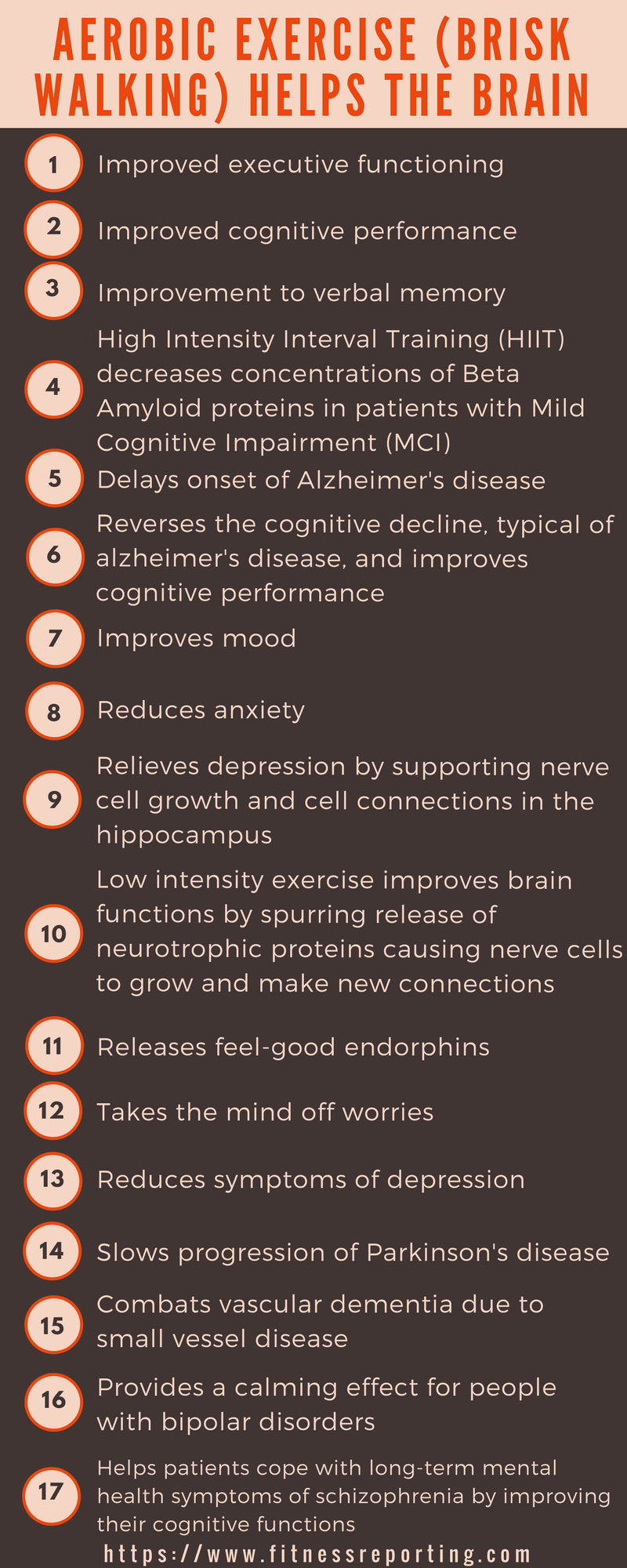 ways aerobic or cardio workouts help the brain